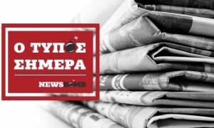 Εφημερίδες: Διαβάστε τα πρωτοσέλιδα των εφημερίδων (31/08/2017)