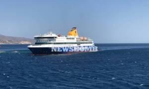 Blue Star Patmos: Εγκλωβισμένη παραμένει η πλώρη - Το Σάββατο (2/9) νέα επιχείρηση αποκόλλησης