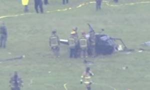 Κατέπεσε ελικόπτερο της αστυνομίας - Ζωντανοί οι δύο αστυνομικοί (vid)