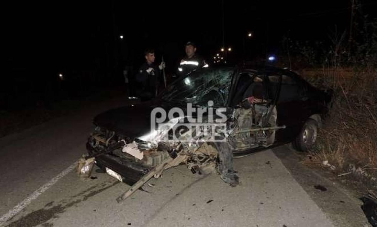 Σοβαρό τροχαίο με τρεις τραυματίες στην Ε.Ο. Πατρών-Πύργου (pics)