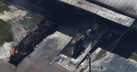 Explosion at Arkema chemical plant in Crosby, Texas causes massive fire