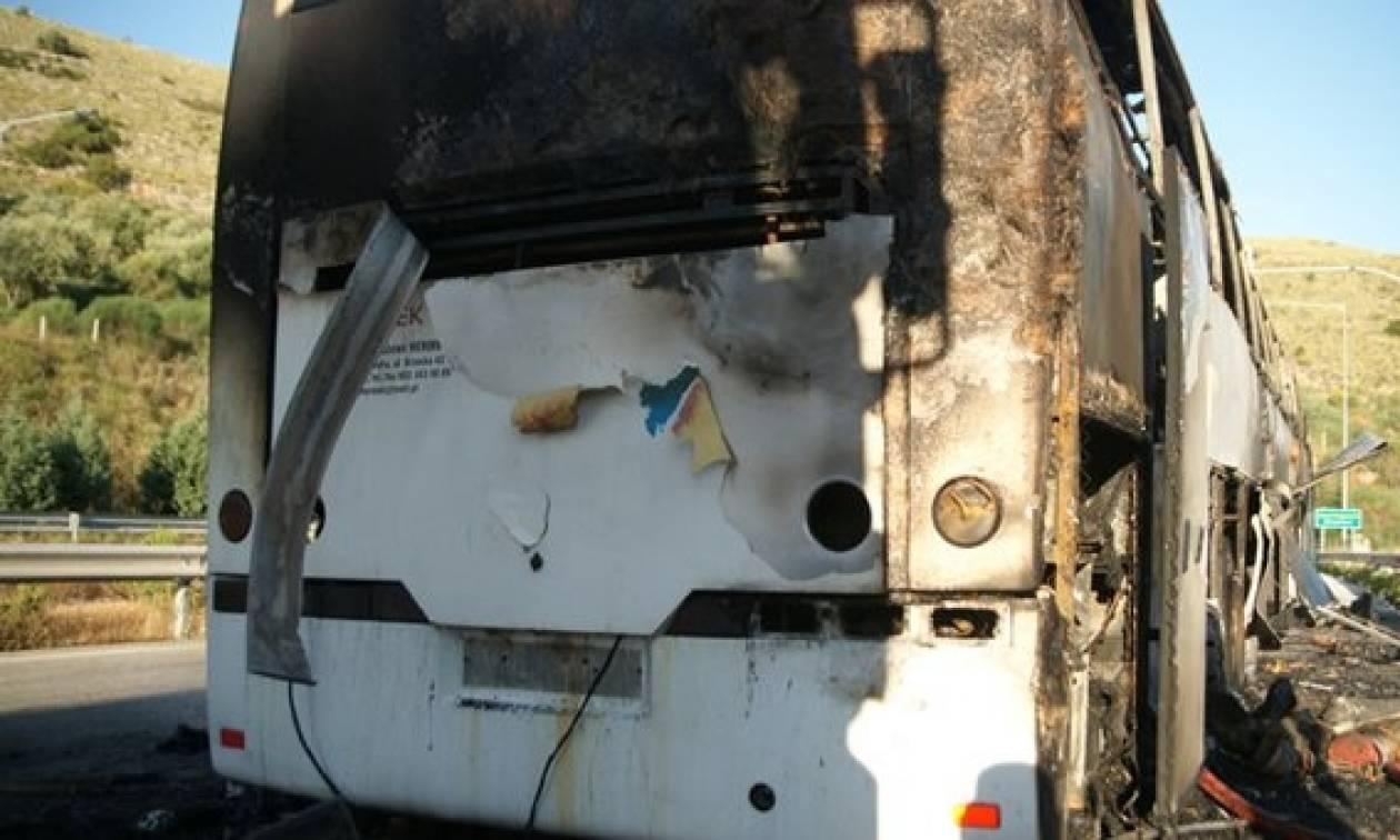 Φωτιά σε εν κινήσει λεωφορείο στην Αθηνών - Θεσσαλονίκης
