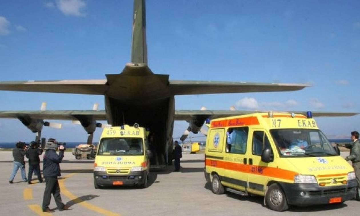 Τρεις αεροδιακομιδές ασθενών από και προς Κρήτη