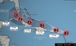 Καραϊβική: Ο κυκλώνας Ίρμα «σαρώνει» τη νήσο Μπαρμπούντα (Vids)