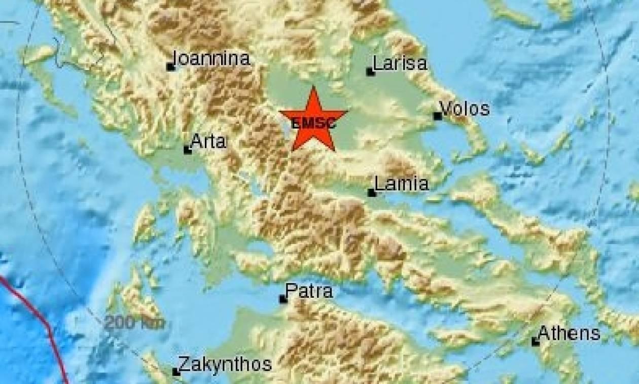 Σεισμός «ταρακούνησε» την Καρδίτσα - Αισθητός και στα Τρίκαλα