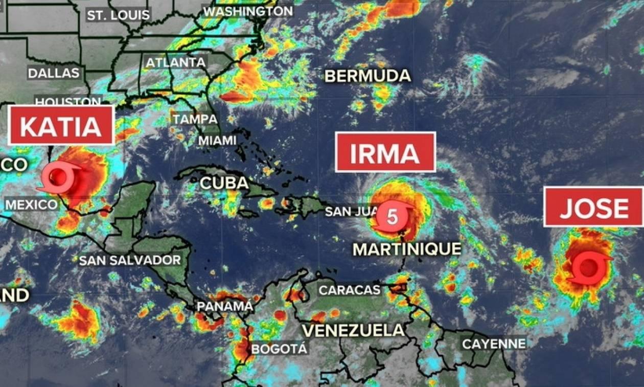 Δεν είναι μόνο η Ίρμα… Άλλοι δύο κυκλώνες απειλούν την Καραϊβική! (pic)