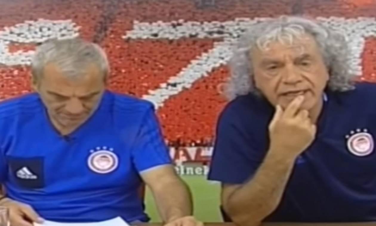 Οπαδός της ΑΕΚ... τρελαίνει τον Τάκη Τσουκαλά με τον Αραούχο (video)