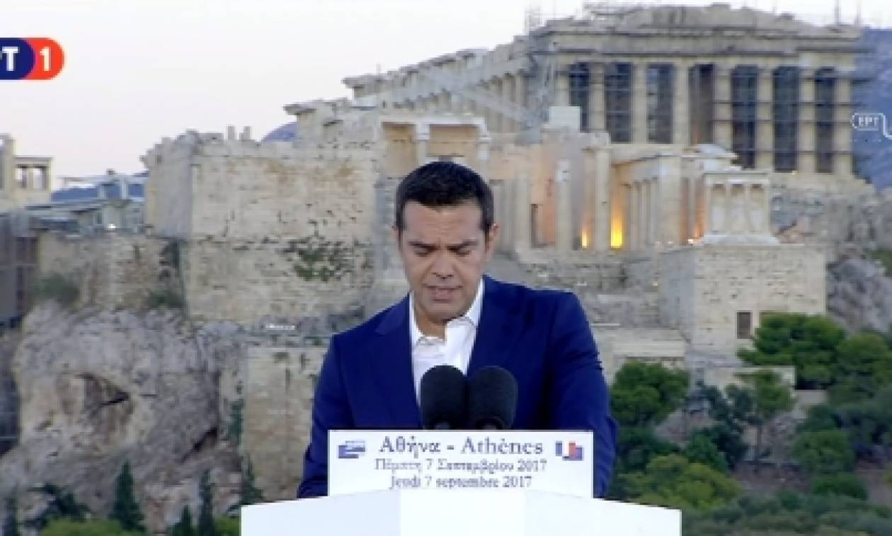 LIVE η ομιλία Τσίπρα – Μακρόν στην Πνύκα