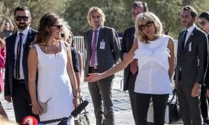 Τι αποκάλυψε η Μπριζίτ Μακρόν στην Περιστέρα κατά την επίσκεψή τους στην Ακρόπολη