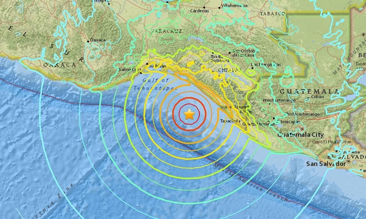 Χαμηλό εστιακό βάθος είχε ο ισχυρός σεισμός 8,2 Ρίχτερ που χτύπησε το Μεξικό