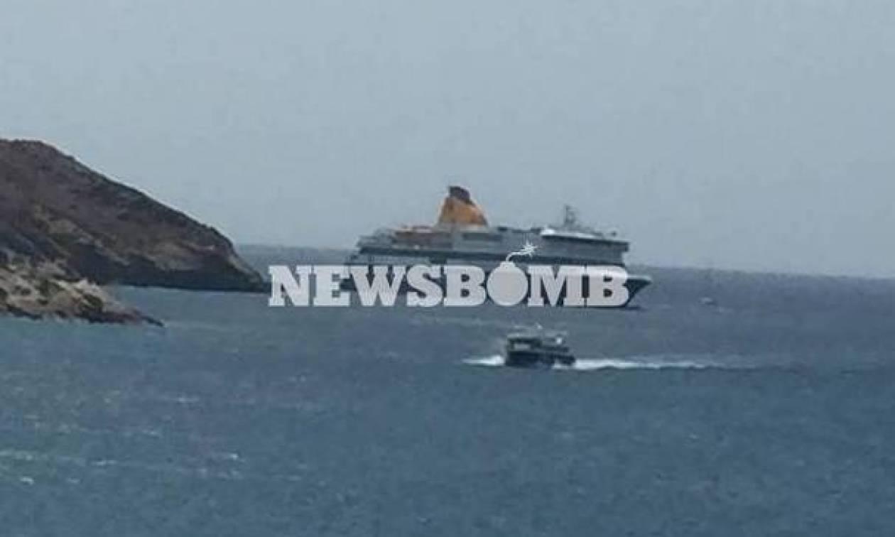Ξεκίνησε η ρυμούλκηση του «Blue Star Patmos» με προορισμό το Πέραμα