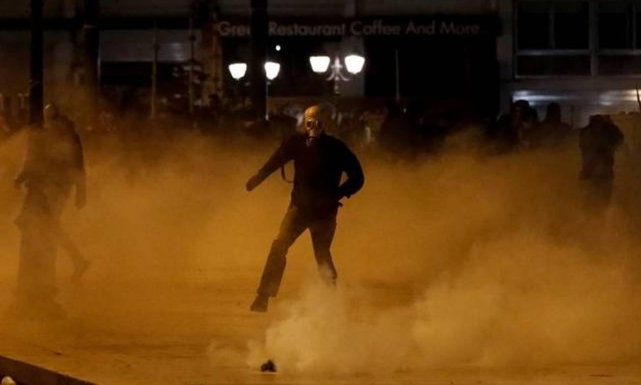 Ночью в Афинах произошли столкновения анархистов с полицией