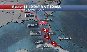 Η Φλόριντα στο μάτι του κυκλώνα: Η Ίρμα σε ύφεση λίγο πριν ενισχυθεί και «σπείρει» την καταστροφή