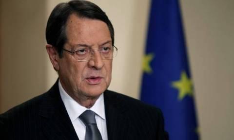 Αναστασιάδης: Ελπιδοφόρα η ανεύρεση φυσικού αερίου στην κυπριακή ΑΟΖ