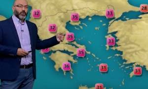 Καιρός: Ο Σάκης Αρναούτογλου προειδοποιεί... Ερχεται κύμα έντονης ζέστης (video)