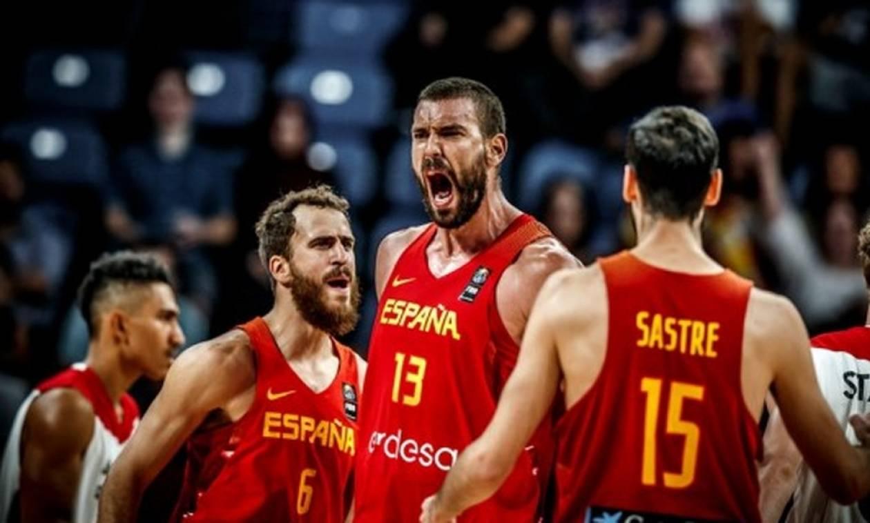 Ευρωμπάσκετ 2017: Με Μαρκ Γκασόλ στα ημιτελικά η Ισπανία