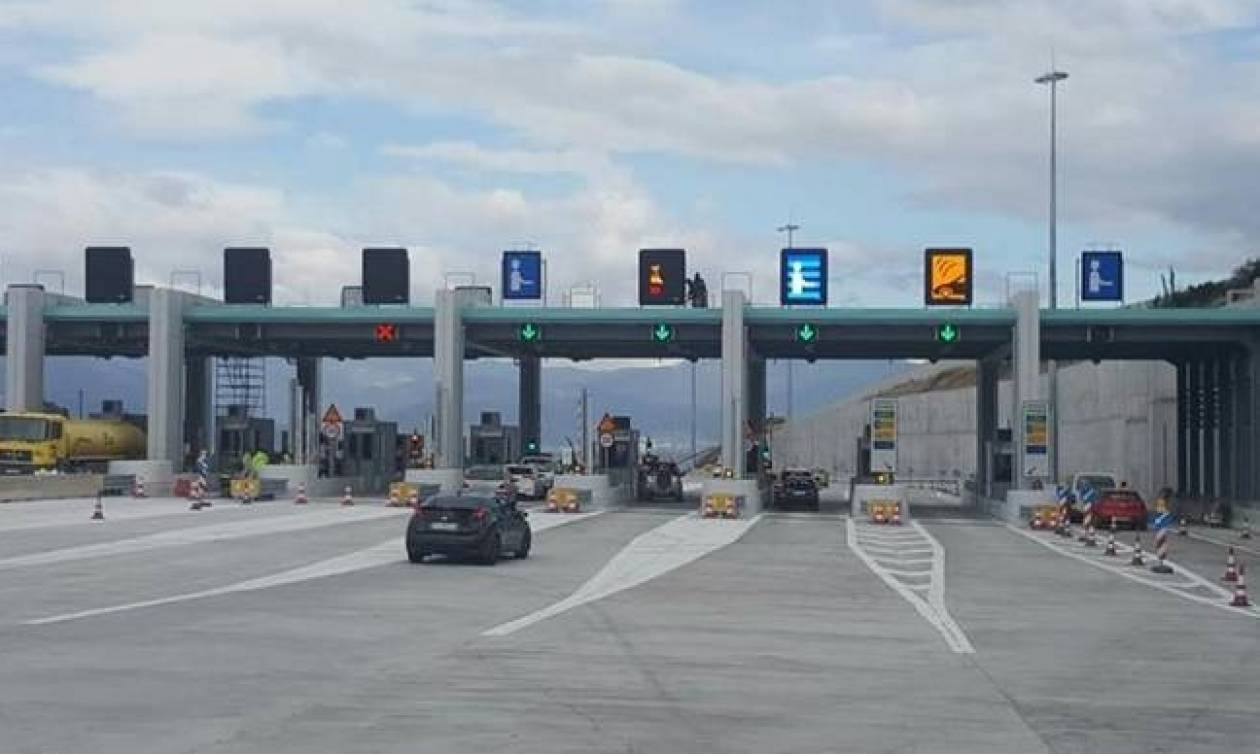 New toll stations to open on Corinth-Patras motorway as of Wednesday midnight