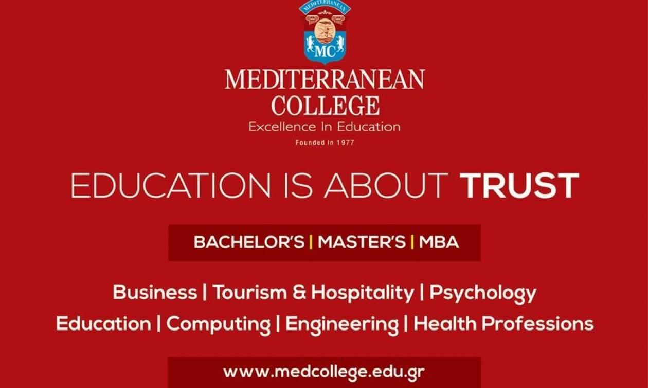 Το Mediterranean College γιορτάζει 40 έτη λειτουργίας και προσφέρει 200 υποτροφίες 50%