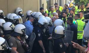 Miners protest outside environment ministry against suspension of Eldorado Gold's investments