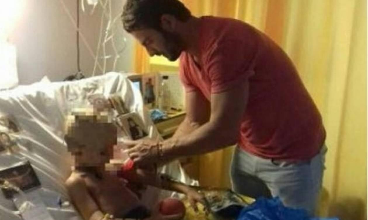 Μάγκας Αγγελόπουλος! Η επίσκεψή του σε νοσοκομείο για να δει άρρωστο παιδάκι (photos)