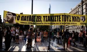 Μαζική πορεία στο κέντρο της Αθήνας στη μνήμη του Παύλου Φύσσα (pics)