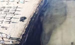 Νέο συγκλονιστικό βίντεο: Η οικολογική καταστροφή στον Σαρωνικό από ψηλά