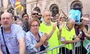 Ισπανία: Χιλιάδες διαδήλωσαν υπέρ του δημοψηφίσματος για την ανεξαρτησία της Καταλονίας