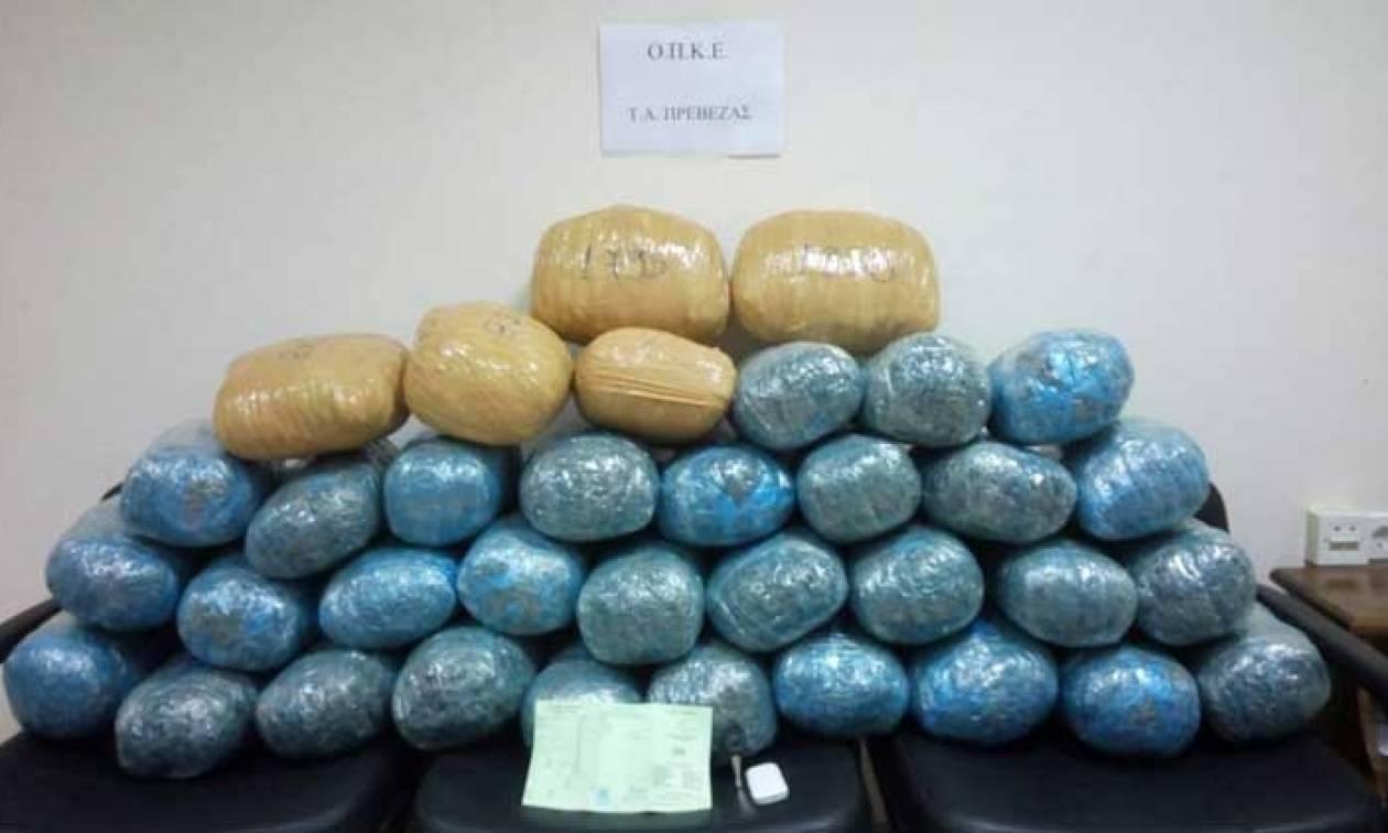 Θεσπρωτία: Σύλληψη 37χρονου με 42 κιλά κάνναβης
