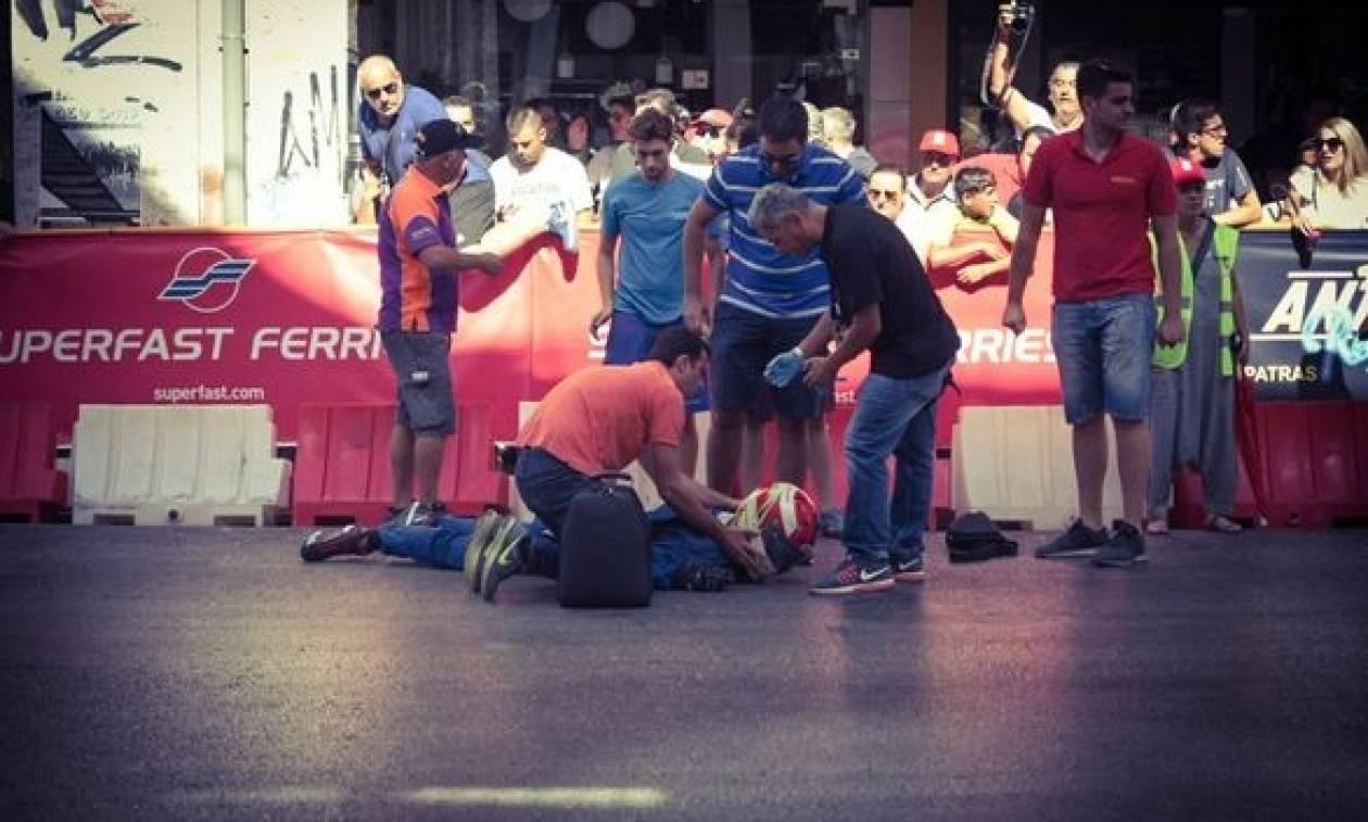 Παραλίγο τραγωδία στην Πάτρα: Κάρτ τυλίχθηκε στις φλόγες - Βίντεο που κόβει την ανάσα