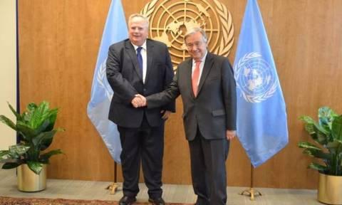 Cyprus issue and Skopje name dominate meeting between Kotzias, Guterres