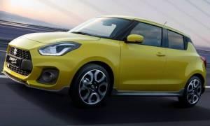 Το καινούργιο Suzuki Swift Sport είναι δυνατό (140 ίπποι) και ελαφρύ (970 κιλά)