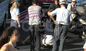 Τροχαίο ατύχημα στην Κρήτη λίγο πριν εμφανιστεί ο Τσίπρας (pics)