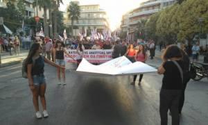Με κινητοποιήσεις υποδέχθηκαν τον Τσίπρα στο Ηράκλειο