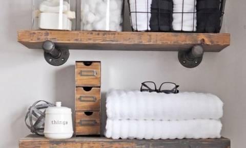 Εξοικονόμησε χώρο στο μπάνιο σου, φτιάχνοντας μόνη σου κουτιά αποθήκευσης