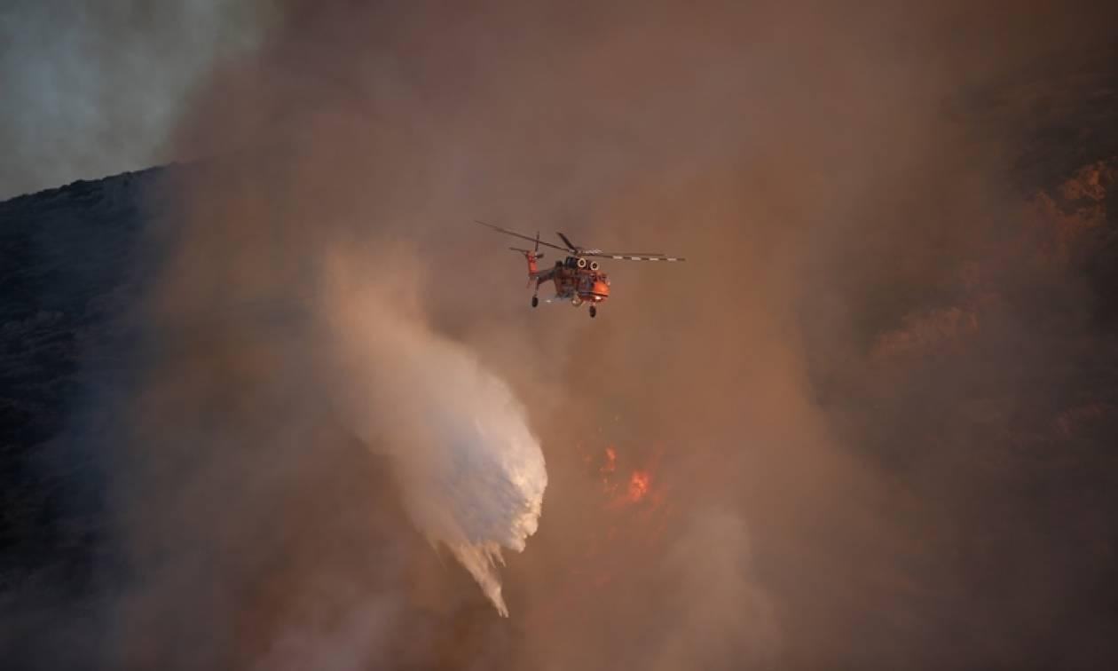 Φωτιά ΤΩΡΑ: Πύρινος εφιάλτης στην Αρχαία Ολυμπία - Καίγεται ο Ξηρόκαμπος