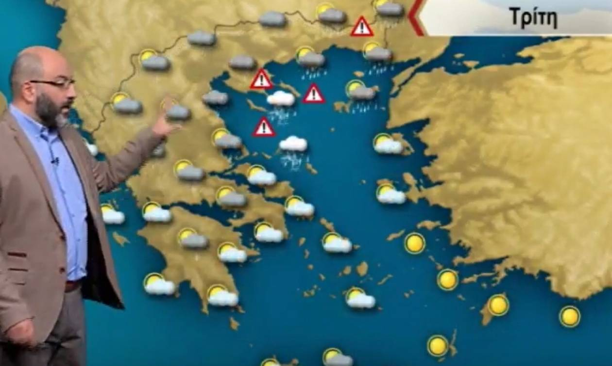 Προειδοποιεί ο Σάκης Αρναούτογλου: Πού θα σημειωθούν καταιγίδες την Τρίτη (video)