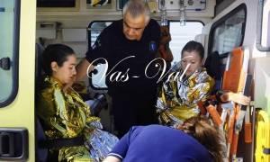 Εφιάλτης στον Κορινθιακό: Κινδύνευσαν παιδιά σε αγώνα κολύμβησης (pics)