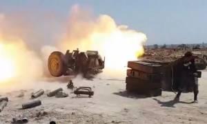 Εικόνες ΣΟΚ: Ανελέητο «σφυροκόπημα» κατά των τζιχαντιστών στη Συρία (vid)