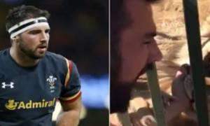 Συγκλονιστικό βίντεο – Λιοντάρι άρπαξε το χέρι διάσημου αθλητή