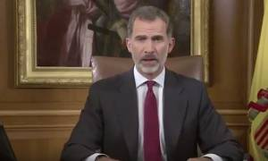 Βασιλιάς Ισπανίας: Πρέπει να διατηρήσουμε την συνταγματική τάξη στην Καταλονία (vid)