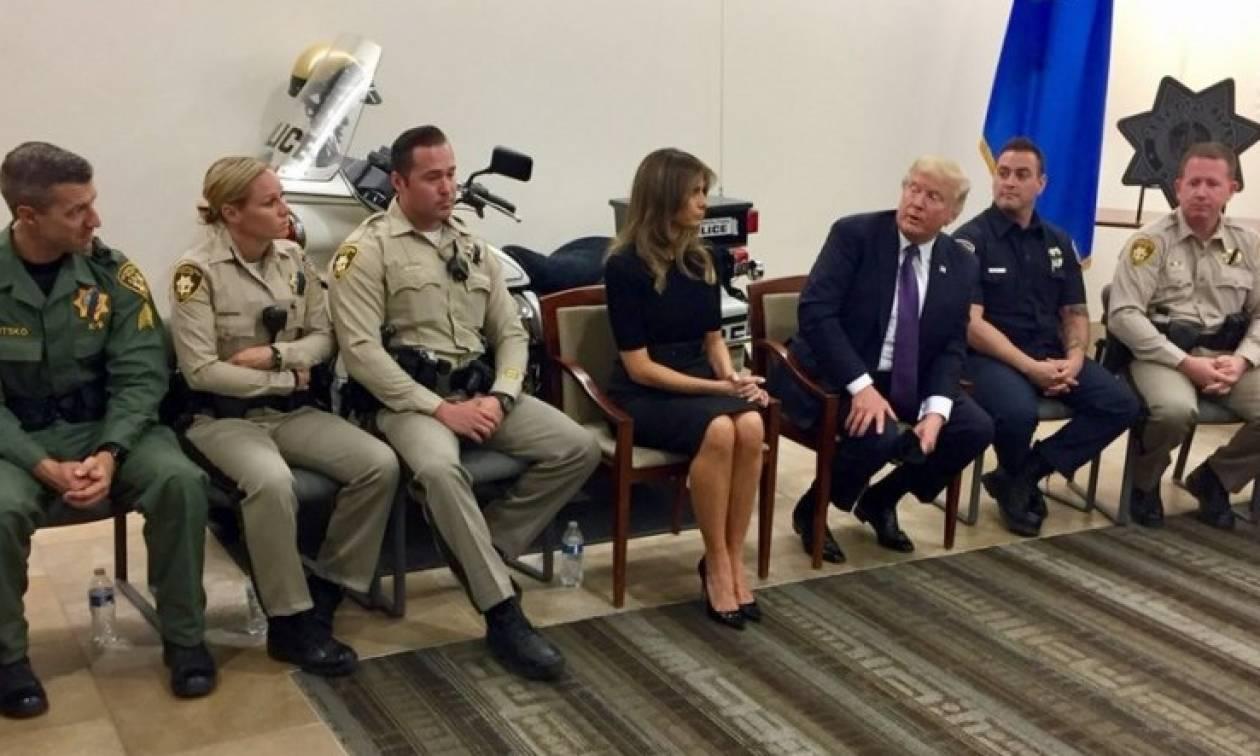 Τραμπ από Λας Βέγκας: «Η καρδιά των ΗΠΑ γέμισε θλίψη»
