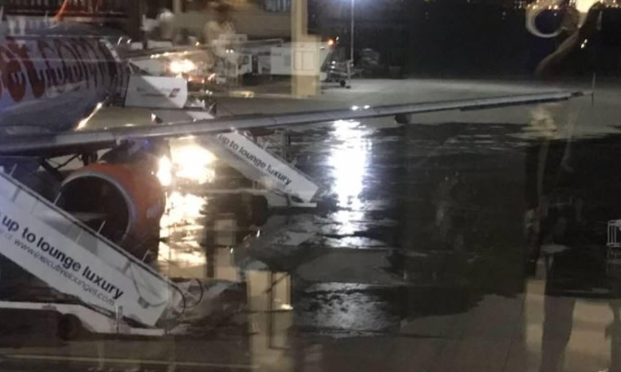 Πανικός στο αεροδρόμιο του Λίβερπουλ από φωτιά! (pics)