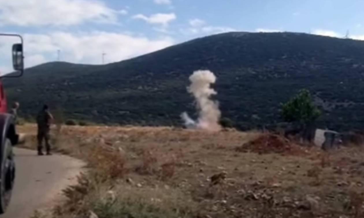 Έκρηξη χειροβομβίδας του Β'  Παγκοσμίου Πολέμου – Δείτε το βίντεο
