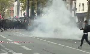 Γαλλία:Επεισόδια και συλλήψεις στη διαδήλωση κατά της εργασιακής μεταρρύθμισης του Μακρόν (pics-vid)