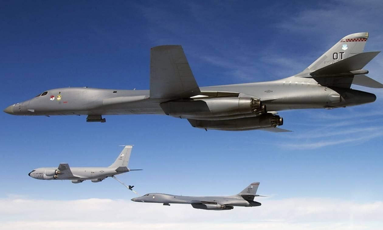 Επίδειξη δύναμης από τις ΗΠΑ - Πέταξαν βομβαρδιστικά B-1B πάνω από την Κορεατική χερσόνησο (vids)