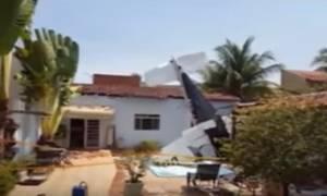 Αεροσκάφος «προσγειώθηκε» σε πισίνα σπιτιού στην Βραζιλία (vid)