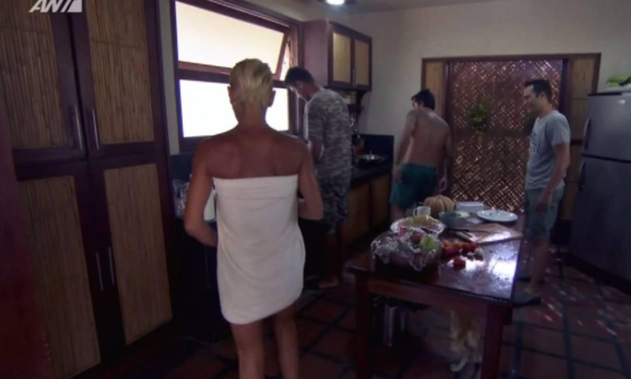 Nomads: Η sexy εμφάνιση της Καλογρίδη με πετσέτα και τα όνειρα που είδε