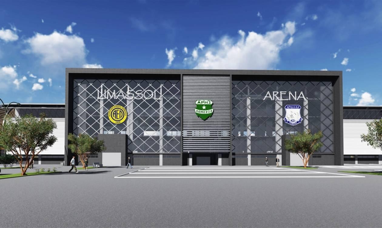 Το νέο γήπεδο στη Λεμεσό αλλάζει χρώμα για τον κάθε γηπεδούχο! (vid)