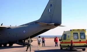 Αερογέφυρα σωτηρίας για 53χρονο από τη Ρόδο στο Ηράκλειο