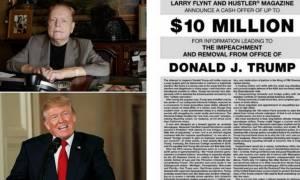 Ο εκδότης του «Hustler» θέλει να «ρίξει» τον Τραμπ από την προεδρία και πληρώνει... αδρά
